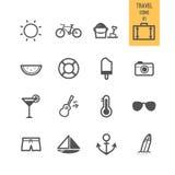Sistema del icono del viaje Foto de archivo libre de regalías