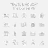 Sistema del icono del viaje y del día de fiesta libre illustration