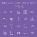 Sistema del icono del viaje y del día de fiesta Imagen de archivo
