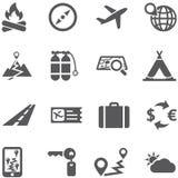 Sistema del icono del viaje y del turismo. Imágenes de archivo libres de regalías