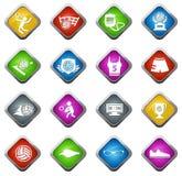 Sistema del icono del voleibol Imagenes de archivo