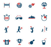 Sistema del icono del voleibol Foto de archivo libre de regalías