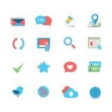 Sistema del icono del web Foto de archivo libre de regalías