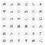 Sistema del icono del web Foto de archivo