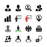 Sistema del icono del web del negocio Imágenes de archivo libres de regalías