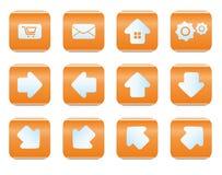 Sistema del icono del web y de Internet Fotos de archivo libres de regalías