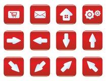 Sistema del icono del web y de Internet Imagenes de archivo