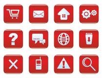 Sistema del icono del web y de Internet Imágenes de archivo libres de regalías
