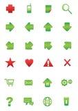 Sistema del icono del web y de Internet Fotos de archivo