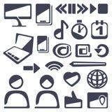 Sistema del icono del Web y de la flecha stock de ilustración