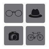 Sistema del icono Diseño del estilo del inconformista Gráfico de vector Fotos de archivo