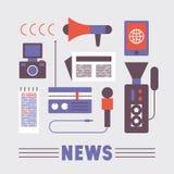 Sistema del icono del ejemplo del vector de noticias libre illustration