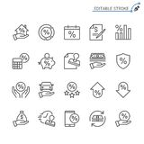 Sistema del icono del esquema del préstamo libre illustration