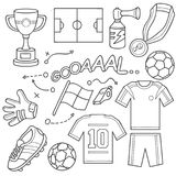 Sistema del icono del fútbol stock de ilustración