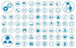 Sistema del icono del gran negocio stock de ilustración