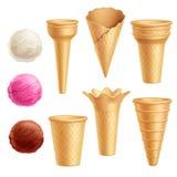 Sistema del icono del helado libre illustration