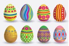 Sistema del icono del huevo de Pascua Imagen de archivo libre de regalías