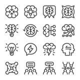 Sistema del icono del intercambio de ideas libre illustration