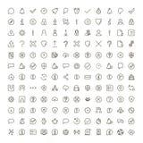 Sistema del icono del interfaz Fotos de archivo libres de regalías