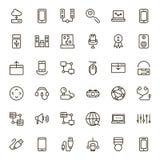 Sistema del icono del juego online Fotografía de archivo libre de regalías