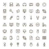Sistema del icono del juego online Foto de archivo libre de regalías