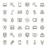Sistema del icono del juego online Foto de archivo