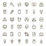 Sistema del icono del juego online Fotografía de archivo