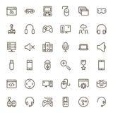 Sistema del icono del juego online Imágenes de archivo libres de regalías