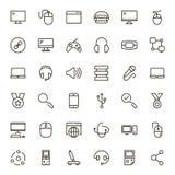 Sistema del icono del juego online Fotos de archivo