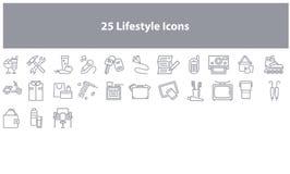 Sistema del icono del márketing de Gray Online stock de ilustración