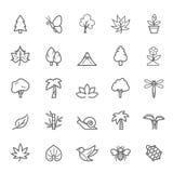 Sistema del icono natural del movimiento del esquema stock de ilustración