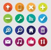 Sistema del icono plano del web Fotografía de archivo
