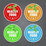 Sistema del icono sano de la comida. Imagen de archivo libre de regalías