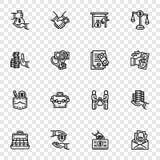 Sistema del icono del soborno, estilo del esquema libre illustration