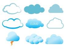 Sistema del icono del vector de la nube Imagen de archivo