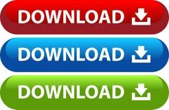 Sistema del icono del web del botón de la transferencia directa stock de ilustración