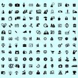 Sistema del icono y del pictograma del negocio Imagen de archivo