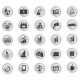 Sistema del icono y del pictograma del negocio Fotografía de archivo