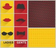 Sistema del inconformista del modelo de las señoras y de los señores Imagen de archivo libre de regalías