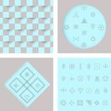 Sistema del inconformista geométrico shapes4 Foto de archivo libre de regalías