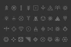 Sistema del inconformista geométrico shapes8 Fotos de archivo