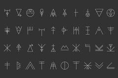 Sistema del inconformista geométrico shapes9 Imagenes de archivo