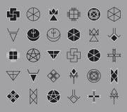 Sistema del inconformista geométrico shapes14 Fotografía de archivo