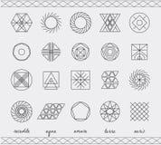 Sistema del inconformista geométrico shapes45 Imagenes de archivo