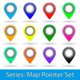 Sistema del indicador del mapa Fotografía de archivo libre de regalías