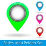 Sistema del indicador del mapa Imagenes de archivo