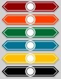 Sistema del indicador en blanco Infographics Foto de archivo