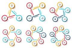 Sistema del infographics del círculo del vector Fotos de archivo libres de regalías