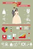 Sistema del infographics de la boda Novia y novio Fotografía de archivo libre de regalías