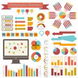 Sistema del infographics del detalle. Gráficos de la información Fotografía de archivo libre de regalías